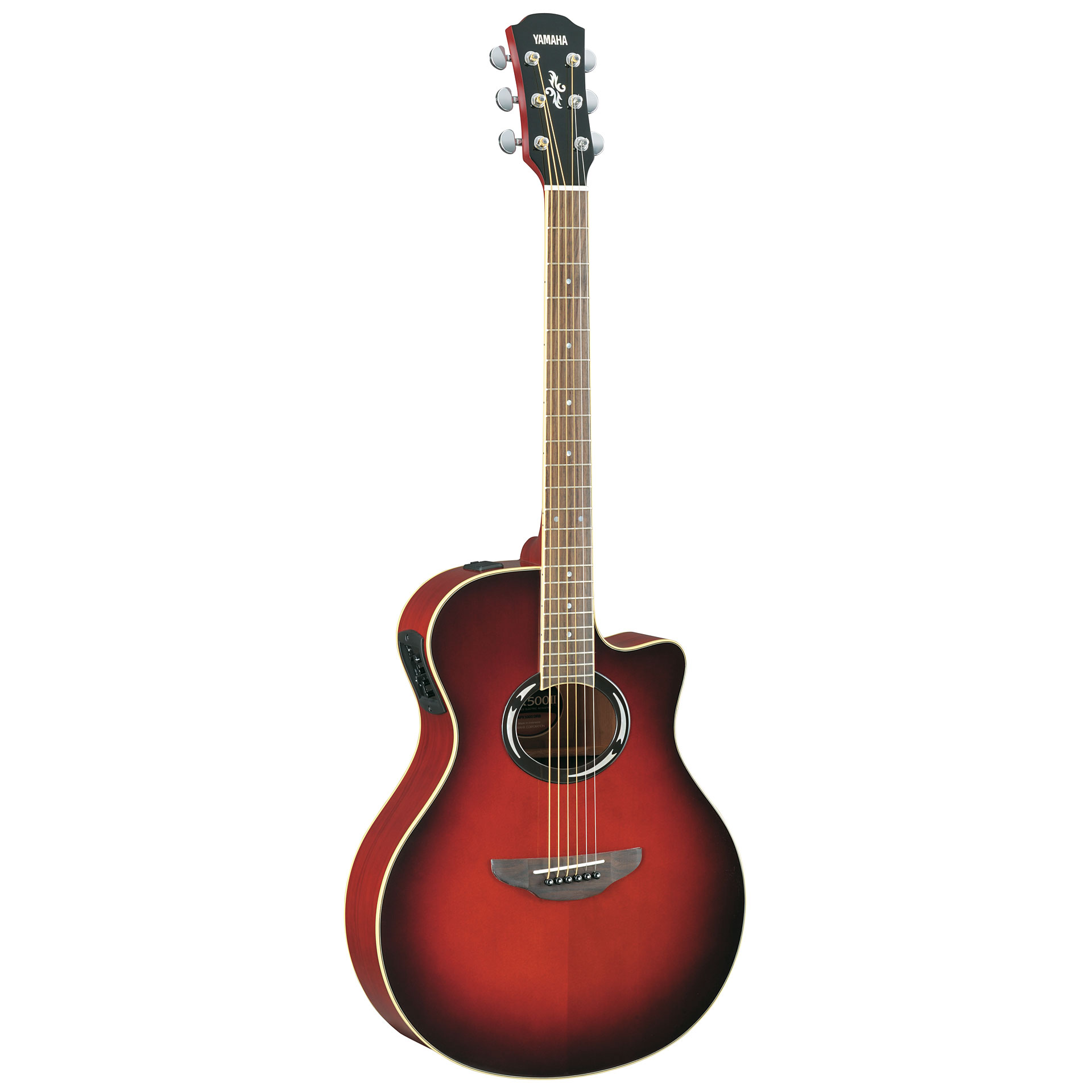 Yamaha apx500ii acoustic electric guitar dark red burst for Where are yamaha guitars made