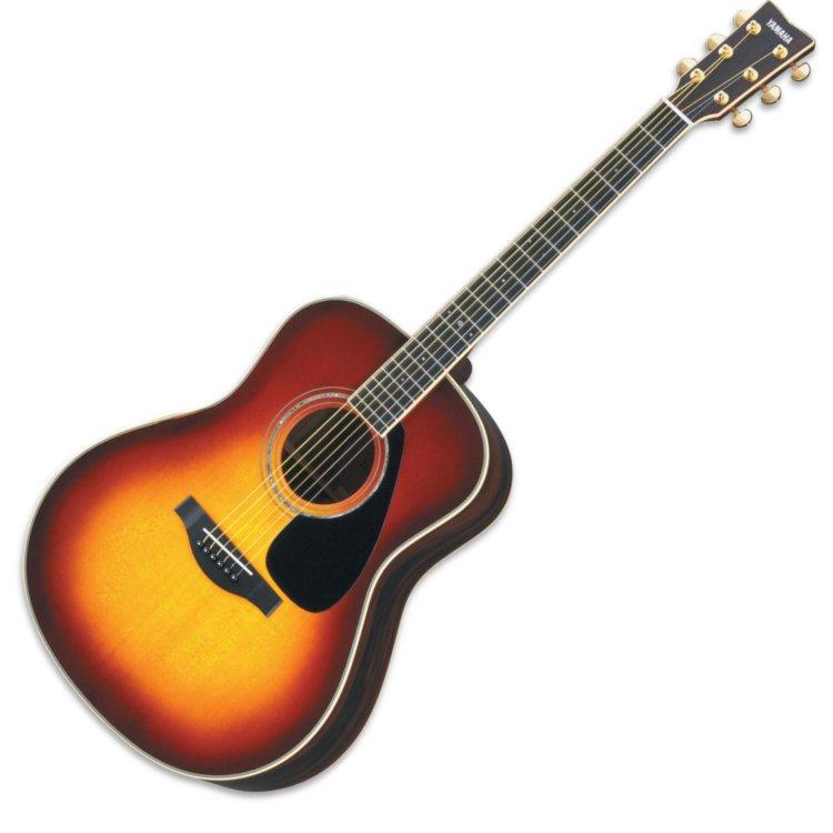 Yamaha l series ll6 dreadnought acoustic guitar w case for Yamaha l series guitars