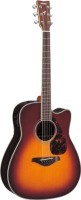 Yamaha FGX730SC Solid Top Acoustic-Electric Guitar Brown Sunburst (FGX730SCBS)