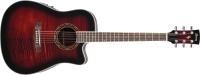 Ibanez PF28ECE Acoustic Electric Guitar Transparent Red Sunburst High Gloss (PF28ECETRS)
