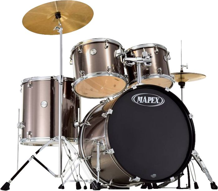 Mapex Voyager 5pc Big City Drum Set With Hardware Cymbals Grey