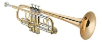 1624RL-R JUPITER LARGE BORE PROFESSIONAL XO C TRUMPET WITH ROSE BRASS BELL AND REVERSE LEADPIPE (1624RL-R)
