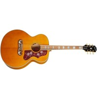 Epiphone J-200 All Solid Wood Fishman Sonitone Aged Natural Antique Gloss Acoustic-Electric Guitar (IGMTJ200ANAGH1)
