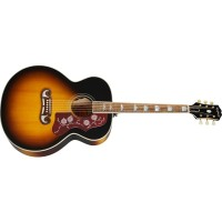 Epiphone J-200 All Solid Wood Fishman Sonitone Aged Vintage Sunburst Gloss Acoustic-Electric Guitar (IGMTJ200AVSGH1)